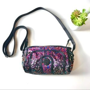 Kipling crossbody bird printed multi color